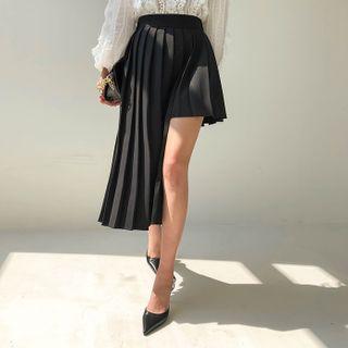 DABAGIRL - Cutaway Long Pleat Skirt