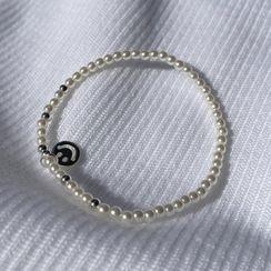 DEEPNY - Smiley-Pendant Faux-Pearl Bracelet