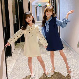 Qin Qin - 小童仿两件喇叭袖A字迷你连衣裙