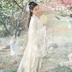 Pinocle - Long-Sleeve Embroidered Traditional Chinese Costume / Set