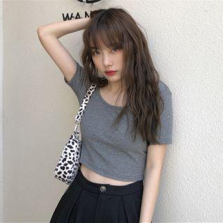 Sisyphi(シシピ) - Plain Short-Sleeve T-Shirt