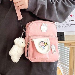 Youme - Two-Tone Canvas Crossbody Bag