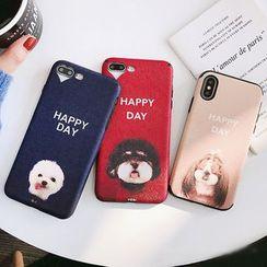 Handy Pie - Dog Print Mobile Case - iPhone X / 8 / 8 Plus / 7 / 7 Plus / 6S / 6S Plus