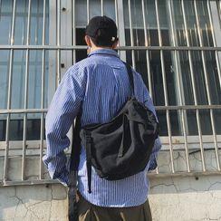 Mulgam - Plain Zip Canvas Crossbody Bag