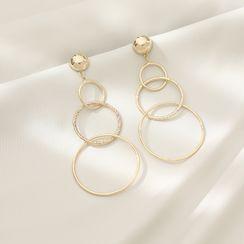 Barler - Alloy Interlocking Hoop Dangle Earring