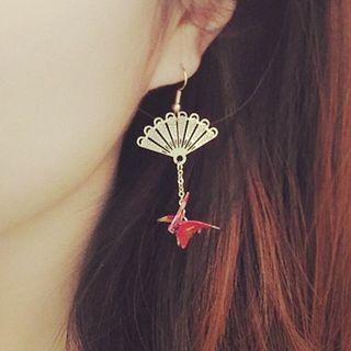 Green Isle - Crane Drop Earring
