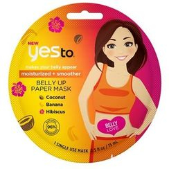 Yes To - Moisturized + Smoother Belly Up Paper Mask