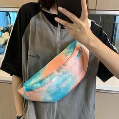 EAVALURE - Tie-Dye Print Zip Sling Bag