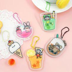 Cute Essentials - Acrylic Cartoon Snack / Drink Keyring