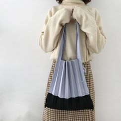 TangTangBags - Two-Tone Knit Tote Bag