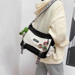 Katleon - Buckled Canvas Messenger Bag