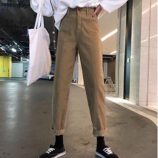 HL哈喽妹妹 - 九分直腿牛仔裤