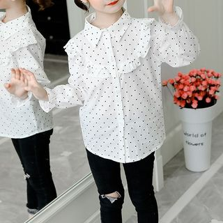 Spring Foresta - Kids Long-Sleeve Dotted Shirt