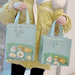 Canvas Love - Set of 2: Print Insulated Lunch Bag