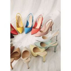 Chlo.D.Manon - Pointy Slingback Stilettos in 14 Colors