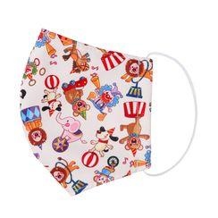 Miumi - Handmade Water-Repellent Fabric Mask Cover (Circus Print)(7-16 Years)