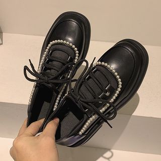 Frivole - 仿皮厚底繫帶鞋