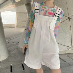 Kichita - 长袖上衣 / 背带短裤