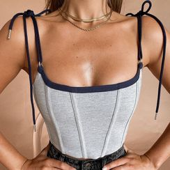 HERMITAKH - 肩系带腰封上衣