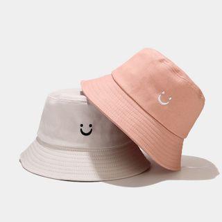KOKOBOLA - 笑脸刺绣渔夫帽