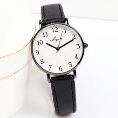 Epoca(エポカ) - Faux Leather Strap Watch