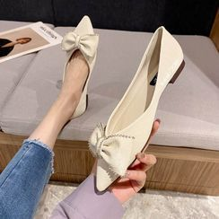 Damino - Pointed Bow Accent Flats