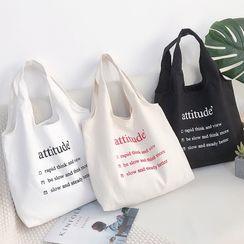Namei - 字母帆布购物袋