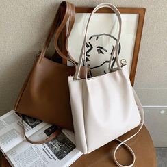 Diamante - Faux Leather Tote Bag