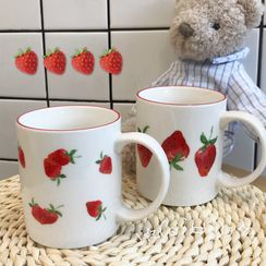Intimo - Strawberry Print Ceramic Mug