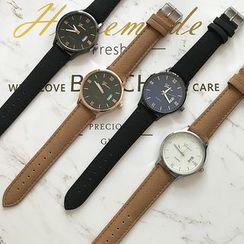 Orario - 羅馬數字仿皮帶式手錶