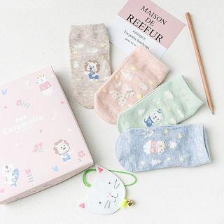 Knit a Bit - Kids Set of 4: Animal Pattern Socks