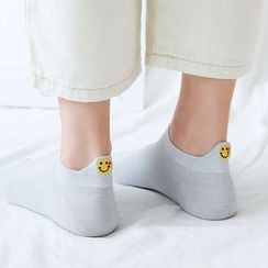 Hearthpi - 笑臉刺繡襪子