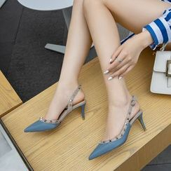 Pretty in Boots - High Heel Pointy Mules