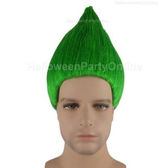 Party Wigs - Party Wig - Trolls Wig Green