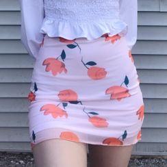HERMITAKH - Floral Pencil Skirt