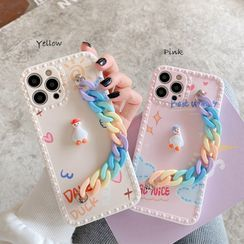 CeLLEAGUE - Hand Chain Printed Phone Case - iPhone, Huawei, HONOR