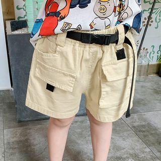 Pinty - Kids Elastic Waist Front Pocket Shorts