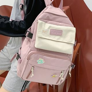 HOVERUP - Two-Tone Zip Backpack / Bag Charm