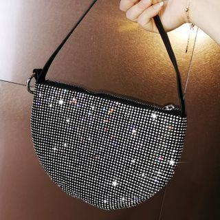 LOLIBOX(ロリボックス) - Rhinestone Zip Handbag