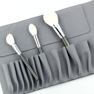 Alays - Faux Suede Makeup Brush Case
