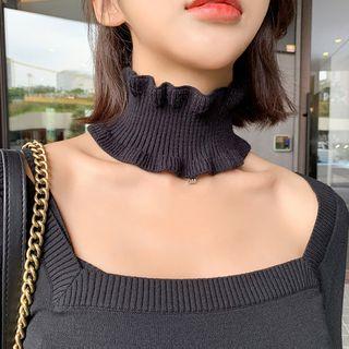 Frior - 皱褶针织衣领