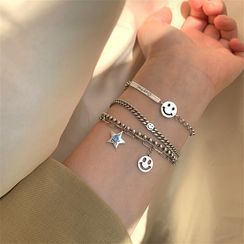 Honne - 925 Sterling Silver Smiley Bracelet