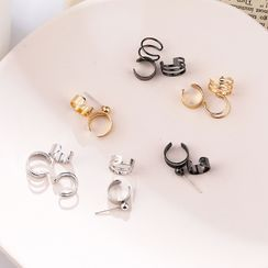 Noverkski(ノバークスキ) - Set of 3: Alloy Cuff Earring