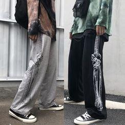 Banash - 骷髏骨印花運動褲