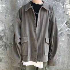 Banash - Pocketed Buttoned Jacket