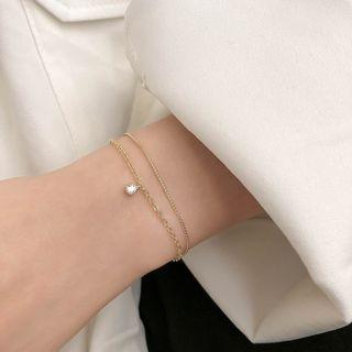 Taimi - 水钻合金手链