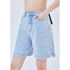 chuu - -5kg Wide Denim Shorts vol.138