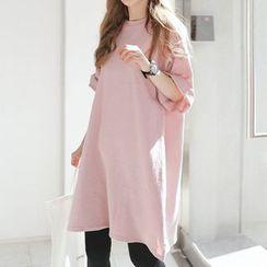 Rocho - 孕妇短袖迷你T裇裙