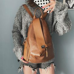 Anadelta - Faux Leather Backpack