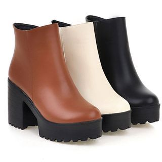 Cinnabelle - Platform Block-Heel Ankle Boots